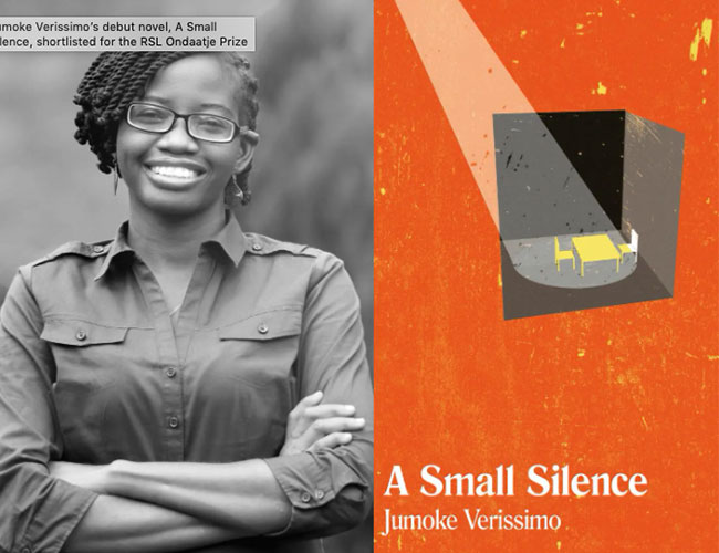 Jumoke Verissimo's debut novel, A Small Silence, shortlisted for the RSL Ondaatje Prize